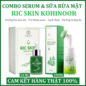 Combo Serum Dưỡng Da & Sữa Rửa Mặt Ric Skin KOHINOOR - COMBO SERUM & SRM RIC SKIN