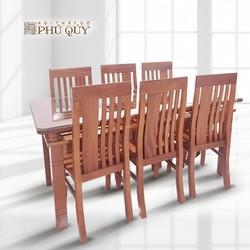Bộ bàn ghế ăn cơm gỗ xoan đào chữ Thọ