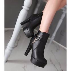 Giày bốt nữ cao gót 12cm
