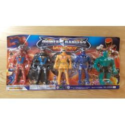 Vỉ đồ chơi 5 siêu nhân anh hùng có đèn led