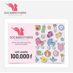 Phiếu quà tặng SocNBrothers 100k