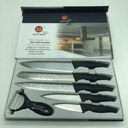 Bộ dao 6 món Kitchen chất liệu thép không gỉ phủ sứ siêu bền, độ bén cao