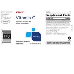 Viên uống bổ sung Vitamin C tăng đề kháng GNC Vitamin C 1000mg 100 viên