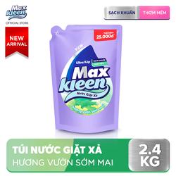 Túi Nước giặt xả Maxkleen hương Vườn sớm mai sạch khuẩn thơm mềm 2.4kg