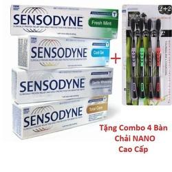 [ FREE SHIP ]COMBO 6 Tuýt Kem đánh răng chống ê buốt thái lan tặng kèm 4 bàn chải NANO cao cấp