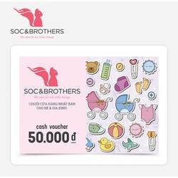 Phiếu quà tặng SocNBrothers 50k