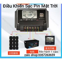 Điều khiển sạc pin mặt trời 30/40/50A 12V/24V LCD