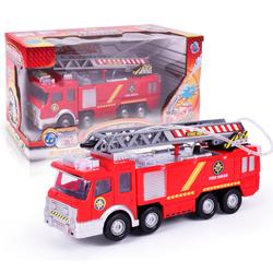 Ô tô cứu hỏa mini chạy pin đồ chơi trẻ em có âm thanh và đèn