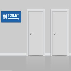 Bảng nhà vệ sinh nam, nữ