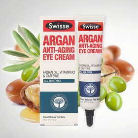 (Hàng AUTH, Có BILL Úc) Kem mắt Swisse Argan Anti Aging Eye Cream 15ml - Swisse Argan Anti Aging Eye Cream 15ml