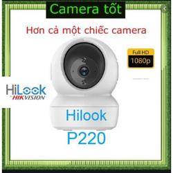 Camera HiLook IPC-P220-D/W 2.0 Megapixel, kết nối Wifi,đàm thoại 2 chiều, hồng ngoại 5m Tặng kèm thẻ nhớ tùy chọn