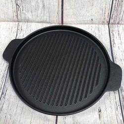 Chảo Gang Nướng BBQ, Làm Bò Bít Tết, Bánh Mì Chảo Chống Dính 22 cm Cao Cấp Tiện Dụng