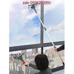 Cây lau kính thông minh có bình xịt tự động- cây lau kính diều chỉnh chiều dài