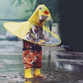 ÁO MƯA NÓN CHÚ VỊT UFO CHO BÉ SIÊU CUTE - áo mưa nón vịt