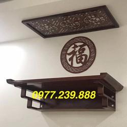 bộ bàn thờ gỗ sồi 81cm