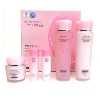 Bộ sản phẩm Dưỡng da Chiết xuất Hoa Hồng 3W CLINIC Flower Effect Extra Moisturizing Skin Care Set - LEB00002 thumbnail