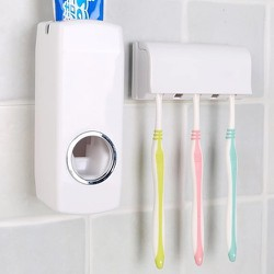 [FREE SHIP] Hộp Đựng Kem Đánh Răng Tự Động Touch Me kèm dụng cụ để nhíp đánh răng