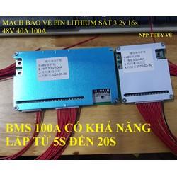 MẠCH BẢO VỆ BMS 16S 48V PIN 32650 40A 100A - tương thích ngược