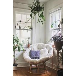 Ghế thư giãn papasan mây tự nhiên 100%_decor sân vườn_nội thất gia đình