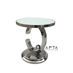 Bàn trà sofa mặt kính chân mạ gold sang trọng nhập khẩu cao cấp tại Tp.HCM  TS0939-05G