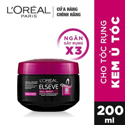 Kem Ủ ngăn gãy rụng tóc L'Oreal Paris Elseve Fall Resist 3X Mask 200 ml -  8992304020834