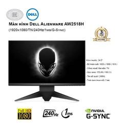 Màn Hình Dell AW2518H 25 inches (1920x1080/TN/240Hz/1ms/G-Sync)