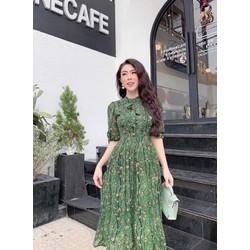 Đầm xòe vải lụa hoa 40-65kg size M, L, XL
