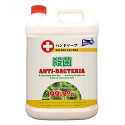 Nước rửa tay khô diệt khuẩn Mr. Fresh 5L - dạng gel, sạch khuẩn, an toàn với 70% cồn
