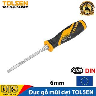 Đục gỗ mũi dẹt cầm tay chuẩn công nghiệp TOLSEN 6mm (1 4 inch) - Tiêu chuẩn xuất khẩu Châu Âu - 25056 thumbnail