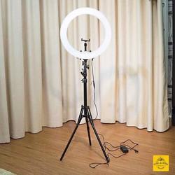 Đèn Live stream hỗ trợ chụp ảnh quay phim size 26cm + tặng chân đỡ đèn dài 2m