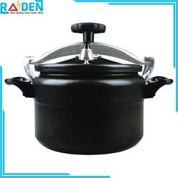 Nồi áp suất đun ga Fujika FJ-AG196D / FJ-AG197D / FJ-AG198D / FJ-AG199D / FJ-AG200D / FJ-AG201D sử dụng được trên bếp từ - Màu đen