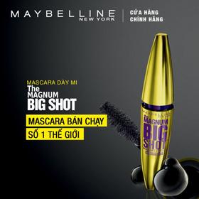 Mascara dày mi cực đại không lem không trôi Maybelline New York Magnum Bigshot 10ml. - M01