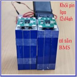 Pin xe điện Khối pin Lipo 12v 14ah mới + có BMS 3s12a - lipo 12v