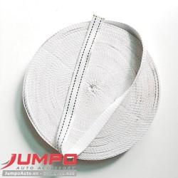 Dây đai polyester bản 35mm màu trắng (kích thước tùy chọn)