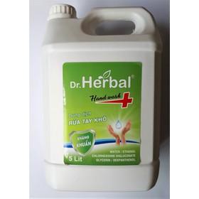 GEL RỬA TAY KHÔ DR. HEBAL CAN 5L – HD PHARMA - LÀM SẠCH DA VÀ KHÁNG KHUẨN - HD-25E