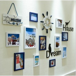 Bộ khung tranh treo tường trang trí nhà bánh lái 2018- Home and Garden