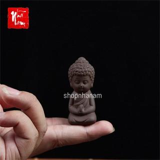 Tượng phật gốm sứ mini trang trí nhà cửa vật phẩm phong thủy gốm cát tím - TuongPhatGSMiniNau thumbnail