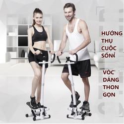Máy tập thể dục thể thao tạo cơ thể săn chắc có màn hình hiển thị FitnessHome có tay vịn và dây- Home and Garden