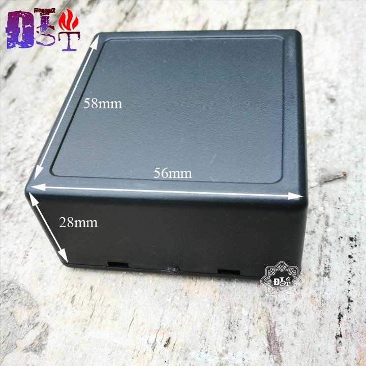 Hộp nhựa 58 * 56 * 28mm Màu đen - Giá cho 2 hộp