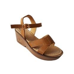 Giày Sandal Nữ Đế Xuồng BIGGBEN Da Bò Thật SĐX31