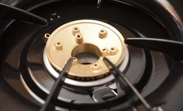 Kiểu dáng gọn gàng, 4 góc bếp bo tròn