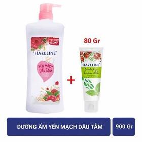[Mua 1 tặng 1 ] khi mua SỮA TẮM TRẮNG SÁNG DA HAZELINE 900g Tặng Sữa Rửa Mặt 80g date 2022 - STH900