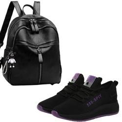 Bộ Đôi Balo da nữ thời trang Onimax bl1260 + Giay Sneaker nữ G34