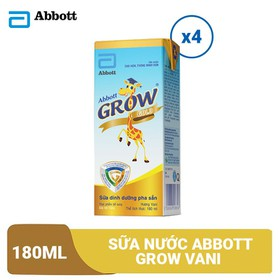 Lốc 4 hộp sữa nước Abbott Grow Vani 180ml - GRO029566