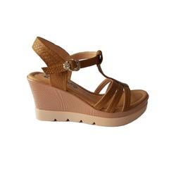 Giày Sandal Nữ Đế Xuồng BIGGBEN Da Bò Thật SĐX34