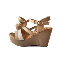 Giày Sandal Nữ Đế Xuồng BIGGBEN Da Bò Thật SĐX35