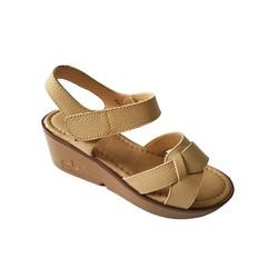 Giày Sandal Nữ Đế Xuồng BIGGBEN Da Bò Thật SĐX32