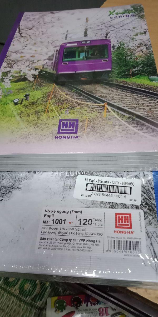 Giảm Giá 10 Quyển Vở  Kẻ  Ngang PuPil Mã1004 (72trang Hồng Hà