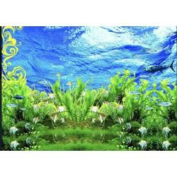 tranh 3d dán bể cá