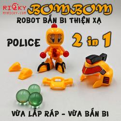 2 IN 1 ROBOT bắn bi thiện xạ BOMBOM